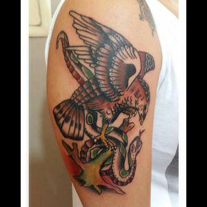 #tattoo #tattoosp #oldschool #classic #traditional #AmundDietzel #amunddietzelflash #eagle #traditionaleagle