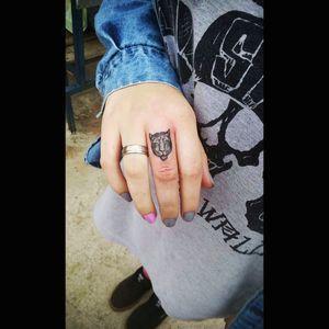 #tiger #hand #fingertattoos