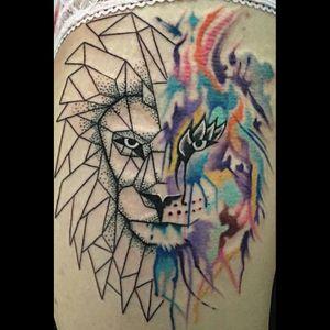 #geometric #geometry #geometricwatercolor #watercolor #animal #animalhead #lion