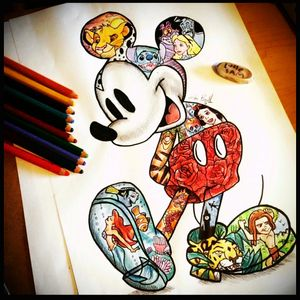 A sketch of the man himself, Mickey Mouse #sketch #disney #ilovedisney #Mickey #MickeyMouse #classicmickey #Ariel #simba #aliceinwonderland #tarzan #snowwhite #roses #Mushu #PeterPan #findingnemo #Tigger #aladdin #stitch #101dalmations