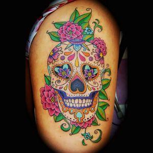 #sugarskull #skull #colorful #roses