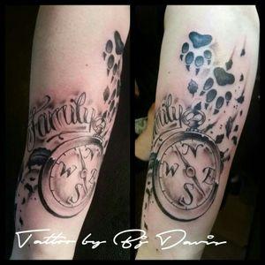 Loving the new tattoo Xxx #familytattoo #compass #love