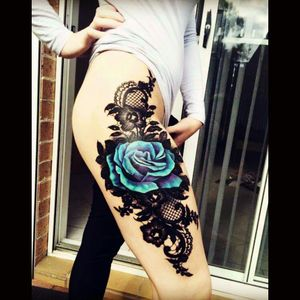 This is so beautiful. #thightattoos
