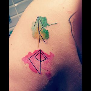 #runes #watercolor