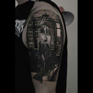 #blackandgrey #blackandgreytattoo #tattoo #storyteller #sexy #erotictattoo #sexytattoogirl #girl #dreamtattoo #ink #halfsleeve