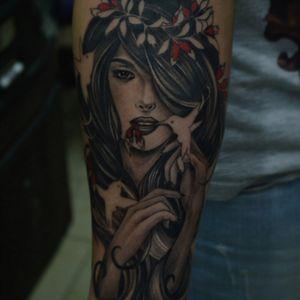 #girl #TattooGirl #portraitgirl #portrait #bnginksociety #thebesttattooartists #bngtattoo