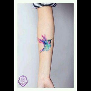 #bird #watercolor #colibri #animaltattoos #tattoo #birdtattoo