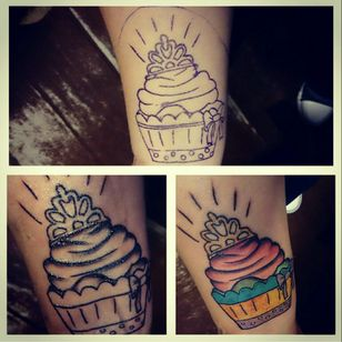 Cupcake with crown because I've got Crohns disease Done by @mandigerstattoo