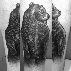 #blackwork #darkartist #animal #bear #kamargiotattoo