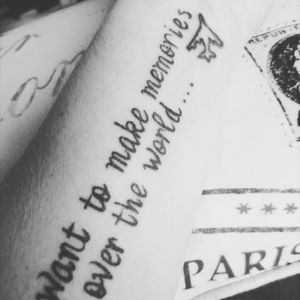 """My firearm #travelling #theworld #wanderlust """"I want to make memories all over the world"""" one of my fave tattoos I have x"""