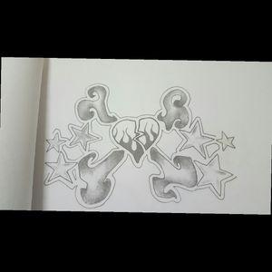 #heart #crossbones #Star #drawing