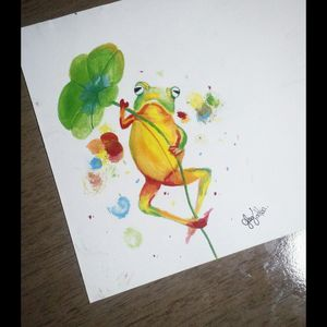 Watercolor Artistic Tattoo #insta @gleytattoo #watercolor #watercolorartist #watercolorart #watercolour #Tattoodo #TattooGirl #animals #animal #animallover #sapo #desenho #artist #girltattoo #curitiba #followmeto #followme #tattoo #tatuagemcolorida #tatuagembrasil #brasil #electricity #electricink #electricinkbrasil
