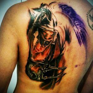 Almost done. 1 more session to go. #romantattoos #romanabrego #sydneytattooexpo #sydney #australia #horse #horsetattoo #equestrian #realistic