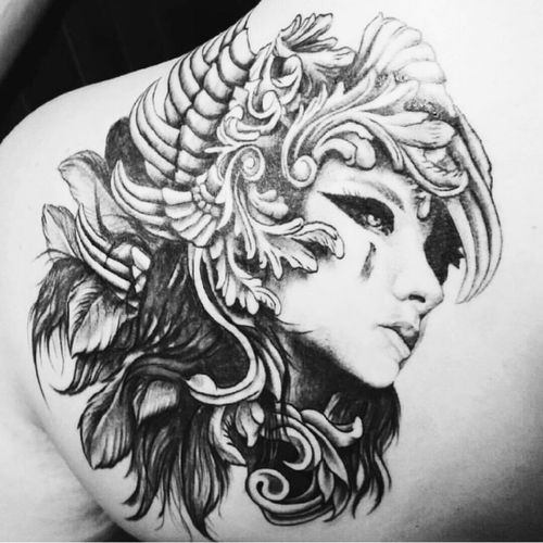 #valkyrie  #blackandgrey  #beautifulart  #iwantthis