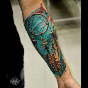 #dreamcatcher #color #tattoo #dreamtattoo #dreamcatchertattoo