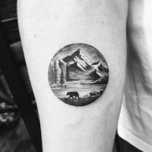 #evakrbdk #landscape #mountain #dotwork