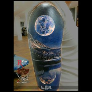 #color #watercolor #Moonstruck #moon #moonphase #colorful #fullcolor #sleeve #ink #inked #tattoo #tattoos #tattoodo #nature #painting #epic #beautiful #love #contrast #colorbomb #art #tattooart #dreamtattoo #reflection #black #dark #Tattoodo
