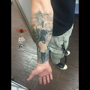 #train #blackandgrey #blackandgreytattoo #tattoo #dreamtattoo #inked #art #storytelling