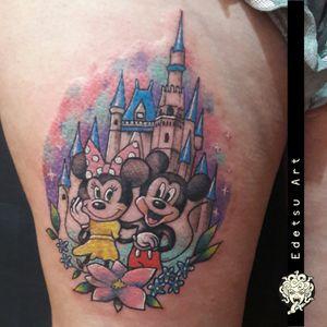 #disneytattoo #MickeyMouse #minniemouse #disneyland #childhoodmemories #neotraditional