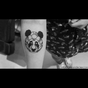 By James Nidecker, Amsterdam #panda #pandatattoo #blackAndWhite #Amsterdam #animal #animalhead #geometric