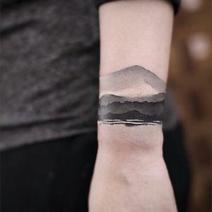 By #newtattoo #beijing #watercolor #inkpainting #armband #bracelet