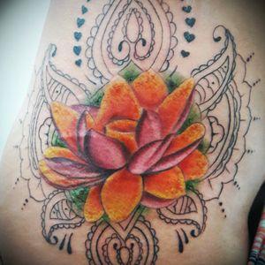 #lotustattoo #lotus #colorful