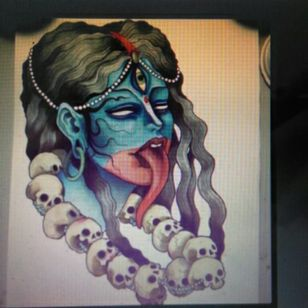 This is my tattoo for #megandreamtattoo (only an idea) I want one tattoo who explain Kali's mytho