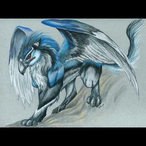 #meganddreamtattoo i would like to get this on one of my legs and another mythical beast on the other havent decided yet which other one though.
