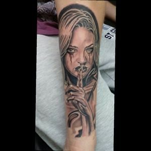 Finished this piece today #blackandgrey #kurosumiink #tattooart #iwantakillerbee #cheyenehawk #anchored