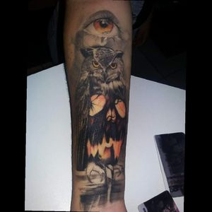 #owl #electricink #tattoodo