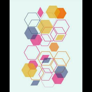 #shapes #yellow #hexagon