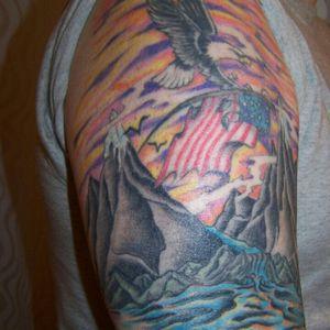 #eagle #americanflag #mountains #AmericanPride #color
