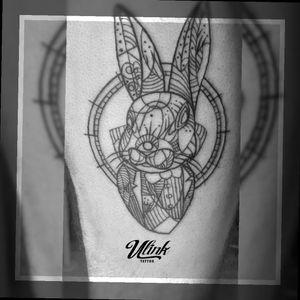 #rabbit #rabbittattoo #linestattoo #geometry #gdlink #GDL