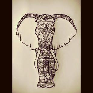 #megandreamtattoo #elephant #mandala