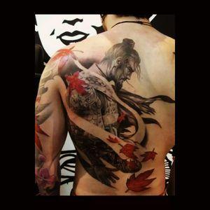 I LIKE this samurai tattoo on my back. #megandreamtattoo #megandreamtattoowanted