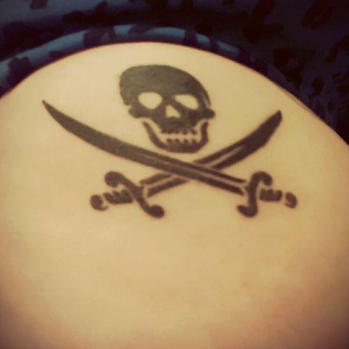A pirates life for me #pirateskull #skullandcrossbones #jolly #blackink