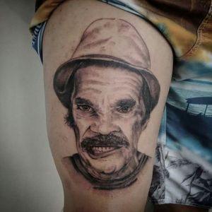 Ramon Valdes #tattoo #tattoodf #seumadruga #tattoo2me #tguest #blackandgrey #chaves  #ramonvaldes #realism