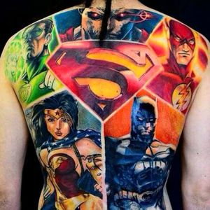 #SuperHeroes #DcComics #Comics #JusticeLeague #Superman #Flash #Batman #WonderWoman #GreenLantern #FullColor #ColorWork