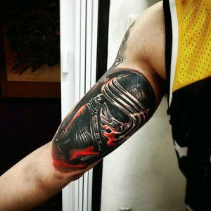 Tattoo artist Alexandre Dallier Kylo Ren . #dallier #kyloren #artist
