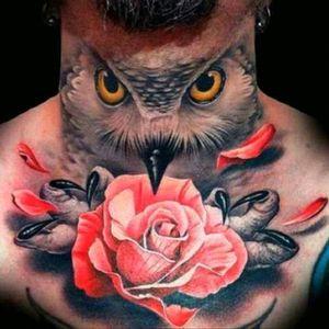 #Owl #Black #Rose #RedAndBlack