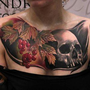 #tattoo #fruit #scull #sculltattoo #chestpiece #dreamtattoo #artshare #art #autumn #tattoos #skull #skull2016 #skulladdict #SkullAgain #skullandfruits #skulldesign