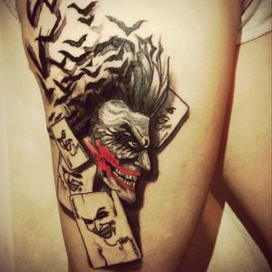 #Joker #jokertattoo #dc #DCtattoo #comics #ItalianTattoo #Amazing #creepy #batman #crazy