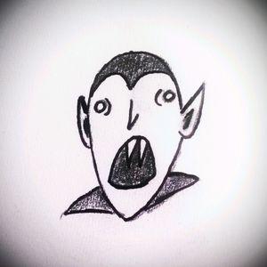 Vampire. By:Me #tete #tattoo #tattoos #sketch #vampire #design #owndesign #dark