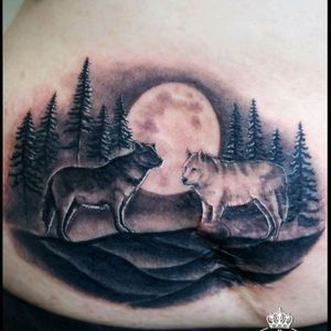#qboink #scar #wolf #moon #soul #Black #blacandgrey #forest #forestattoo #woods #night #fullmoon #wolftatoo #blackwolf #whitewolf