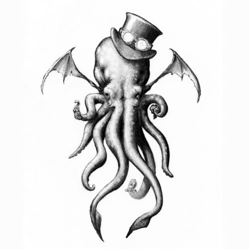 #megandreamtattoo  this has been a design I have been wanting to get for quite some time. Big fan of Cthulhu art