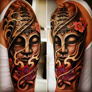 I want a variation of this on my left forearm to tie into oriental themed sleeve.