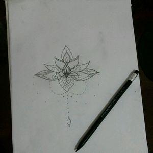 Desenho de Lótus ornamental