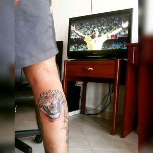 #Tiger #Falcao #TattooRealism #TattooColour