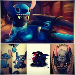 I would love some Toothless & Stitch creation on my body <3 <3 #megandreamtattoo