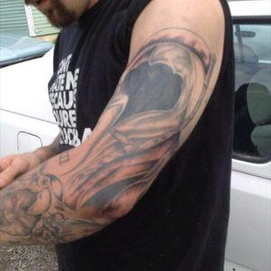 Grim reaper cover up #coveredinink #coverup #GrimReaperTattoo #needsmoreadded #802 #Vermont #tattooeddad #inked4life